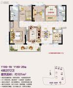 碧桂园印象花城4室2厅2卫101平方米户型图