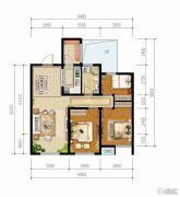 青啤・��悦湾3室2厅1卫89平方米户型图