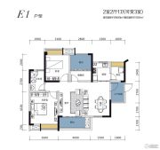 鑫盛滨江国际2室2厅1卫99--113平方米户型图