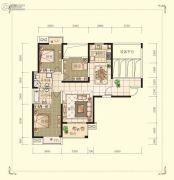 观山名筑3室2厅2卫120平方米户型图