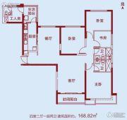 洛阳恒大绿洲4室2厅2卫168平方米户型图
