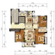 东泰・春江名园3室2厅2卫125平方米户型图
