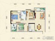 中观国际3室2厅1卫102平方米户型图