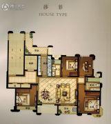 华瑞府4室2厅2卫139平方米户型图
