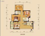 中海国际社区3室2厅2卫89平方米户型图