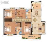 武汉锦绣香江4室2厅2卫143平方米户型图