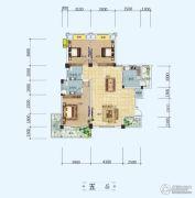 中铁・世纪山水3室2厅2卫127平方米户型图