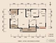 珠江国际商务港3室2厅2卫99平方米户型图