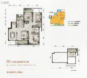 万科金色悦城3室1厅1卫129平方米户型图