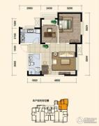 花样年花郡1室1厅1卫74平方米户型图