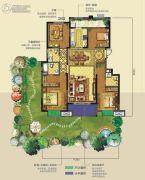 龙湖香醍�Z宸3室3厅3卫150平方米户型图