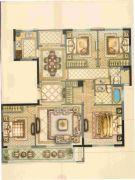 华鸿・瑞安府4室2厅2卫143平方米户型图