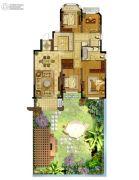 金地湖城艺境4室2厅2卫142平方米户型图