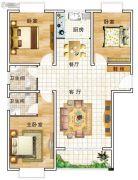 华美国际3室2厅2卫129平方米户型图