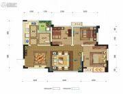 时代锦绣3室2厅1卫80平方米户型图