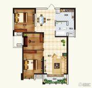 中弘中央广场2室2厅1卫112平方米户型图