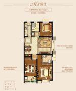 新城里3室2厅2卫119平方米户型图