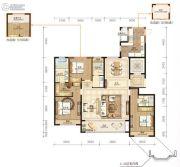 永强朗城公馆4室2厅3卫167平方米户型图