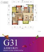 重庆万达城5室2厅2卫98平方米户型图