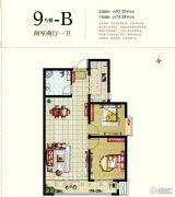 国瑞瑞城2室2厅1卫91平方米户型图