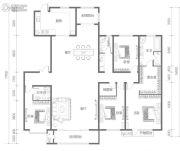 名都和景4室2厅3卫282平方米户型图