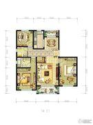 明天华城3室2厅2卫150平方米户型图