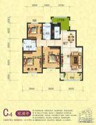梦幻谷・�|方�A府3室2厅2卫134平方米户型图
