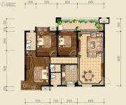 泰基巴黎春天3室2厅2卫117平方米户型图