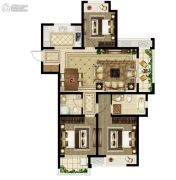 绿都澜湾3室2厅2卫124平方米户型图