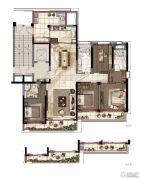 绿地华家池印4室2厅3卫0平方米户型图