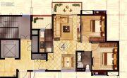 阳光城丽景湾2室2厅1卫83平方米户型图