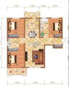 檀香湾3室2厅2卫129平方米户型图