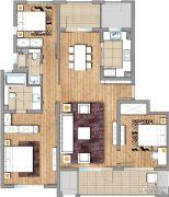 朗诗玲珑屿3室2厅2卫0平方米户型图
