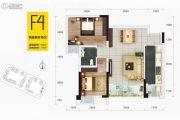 华府幸福城2室2厅1卫63平方米户型图