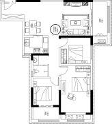 财富公馆3室2厅1卫0平方米户型图