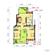 海御新天地3室2厅2卫116平方米户型图