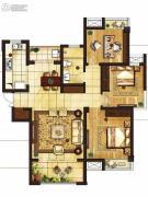 吴中豪景华庭3室2厅1卫114平方米户型图