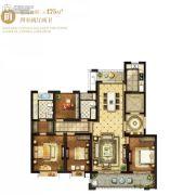 翠湖天地4室2厅2卫175平方米户型图