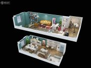正荣彩虹谷2室2厅1卫50平方米户型图