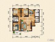 汉成华都3室2厅2卫138平方米户型图