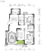 民生城・逸兰汐3室2厅2卫127平方米户型图