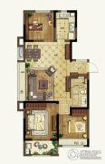 升龙天汇3室2厅1卫93平方米户型图