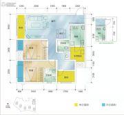 保利江上明珠乐园2室2厅2卫79平方米户型图