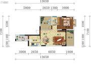 叠翠轩2室2厅1卫70--75平方米户型图