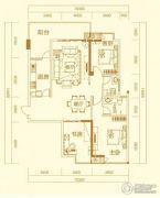 万秀城3室2厅2卫128平方米户型图