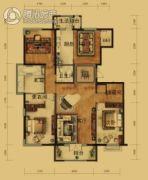 泰和地中海3室2厅2卫192平方米户型图