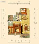 蓝光雍和园3室2厅2卫130平方米户型图