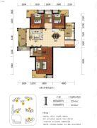 海赋长兴二期奥林阳光公园3室2厅2卫122平方米户型图