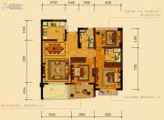 天鸿香榭里3室2厅2卫89平方米户型图