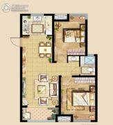 中洲里程2室2厅1卫80平方米户型图